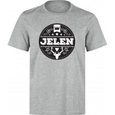 Jelen - Tričko unisex šedé (L)