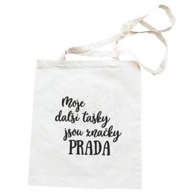Plátěná taška s potiskem 42 x 38 cm - Prada