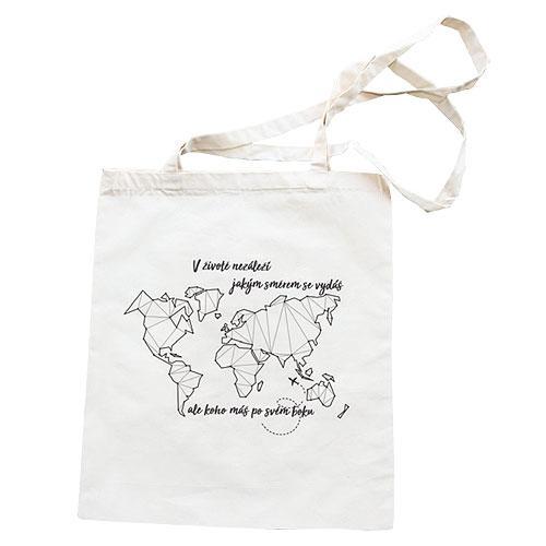 Plátěná taška s potiskem 42 x 38 cm - Mapa