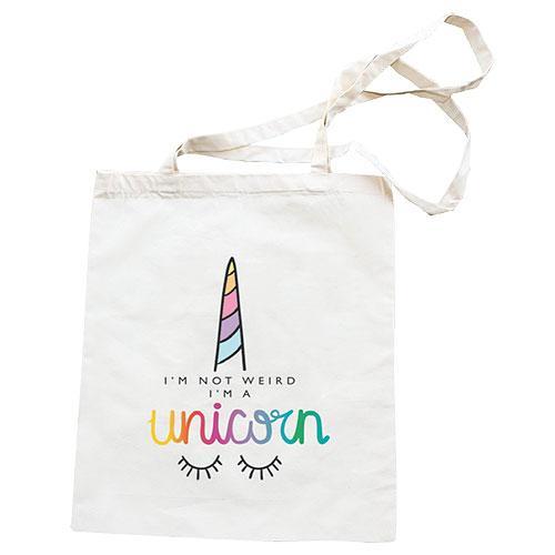 Plátěná taška s potiskem 42 x 38 cm - Unicorn