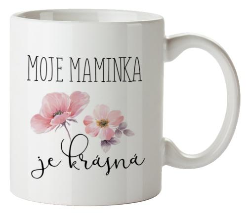 Keramický hrnek s obrázkem - Maminka květiny