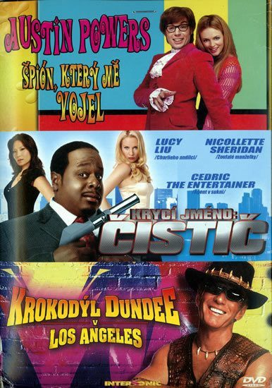 Austin Powers 2/Krycí jméno Čistič/Krokodýl Dundee 3DVD