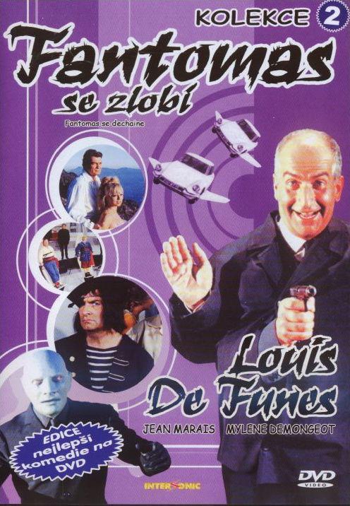 Fantomas se zlobí DVD