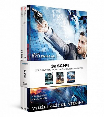 3x Sci-fi: Zdrojový kód + Chrysalis + Kronika mutantů