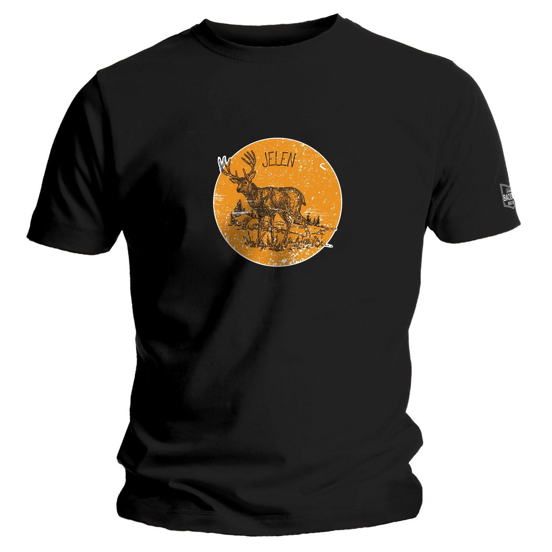 Jelen - Dětské tričko (bílá/černá)