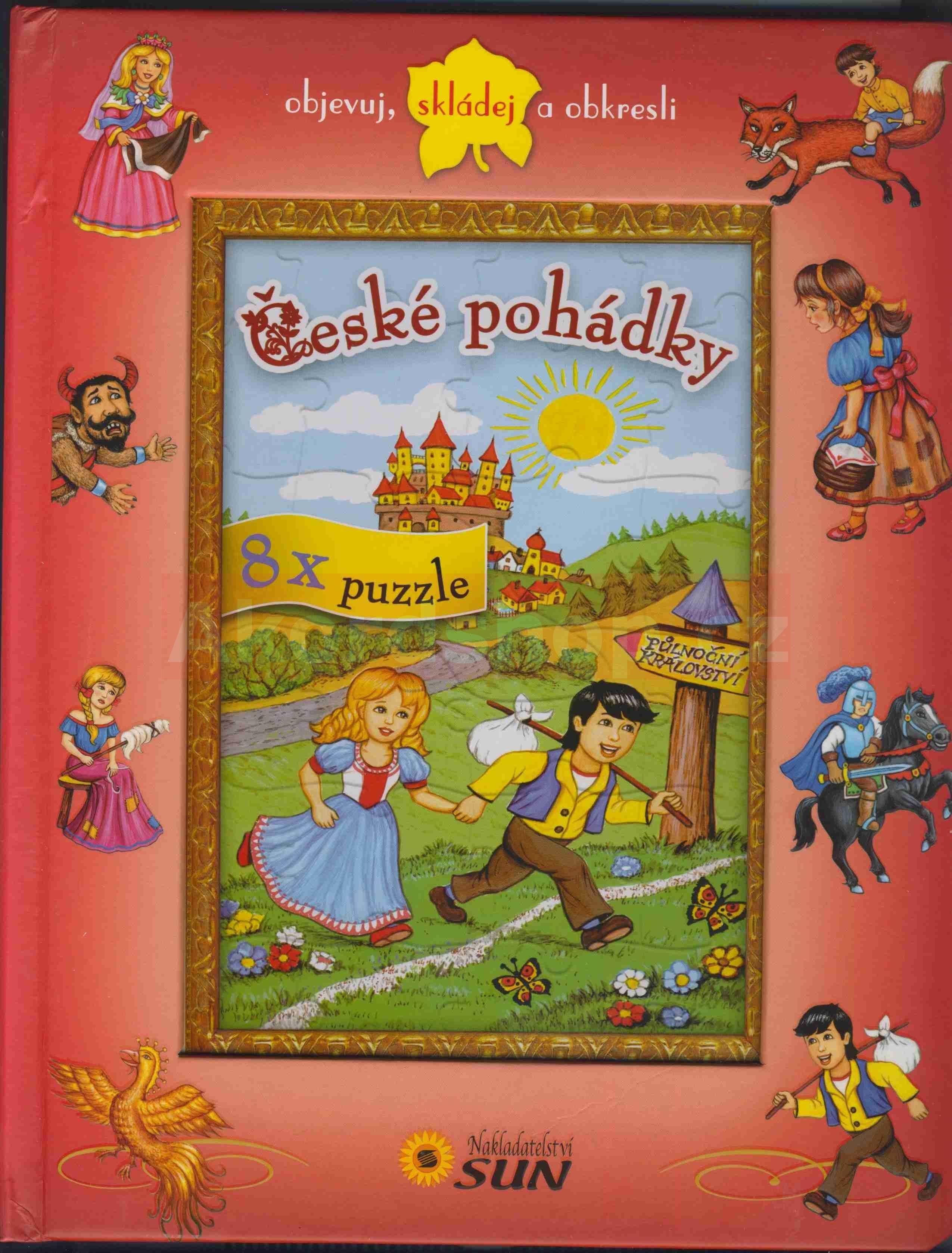 České pohádky - 8x puzzle Poskládej si ...
