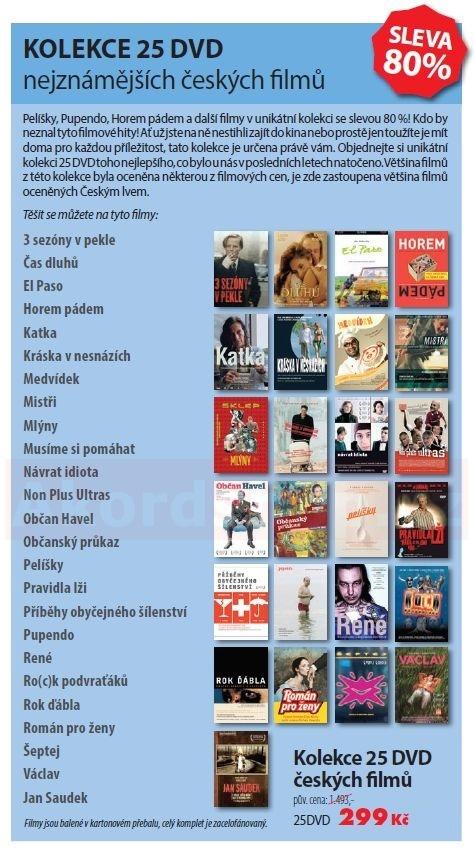 Kolekce českých filmů 25 DVD