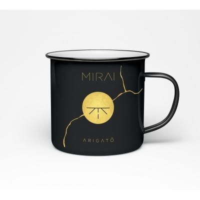 Mirai - Hrnek smaltovaný: Arigató