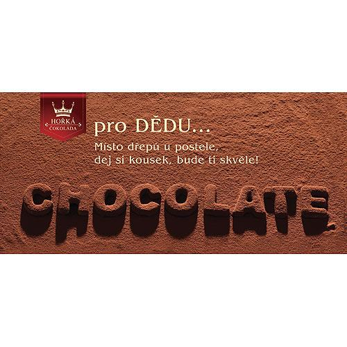 Dárková hořká čokoláda 100 g - Dědečkovi