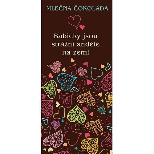 Dárková mléčná čokoláda 100 g - Babičce