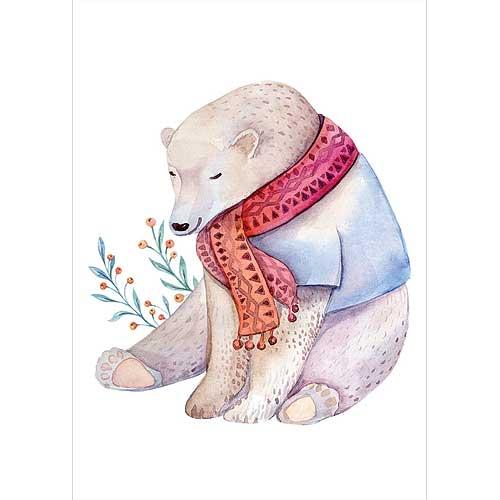 Plakát pro děti formát A5 - Medvěd