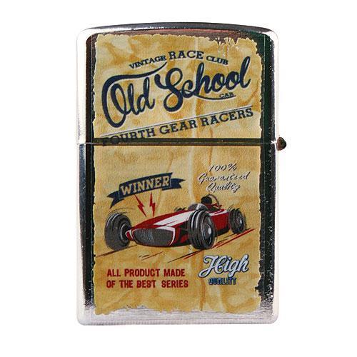 Kovový retro benzínový zapalovač - Old School