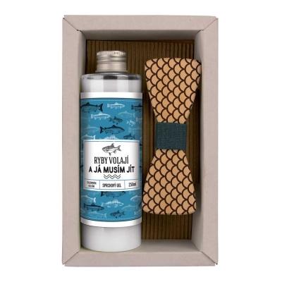 Kosmetická sada pro rybáře - Sprchový gel a motýlek