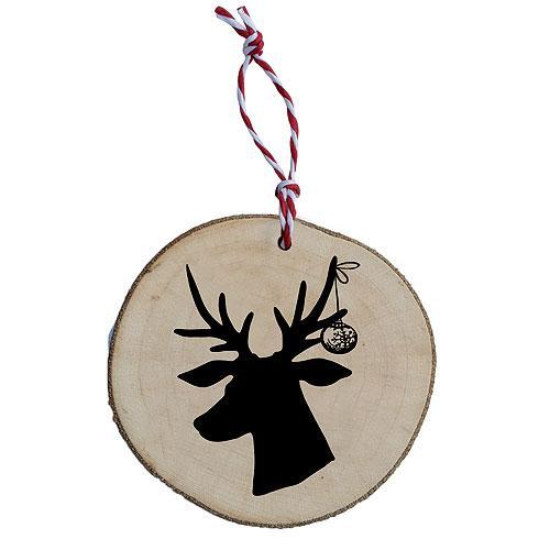 Dřevěná vánoční ozdoba – Jelen černý
