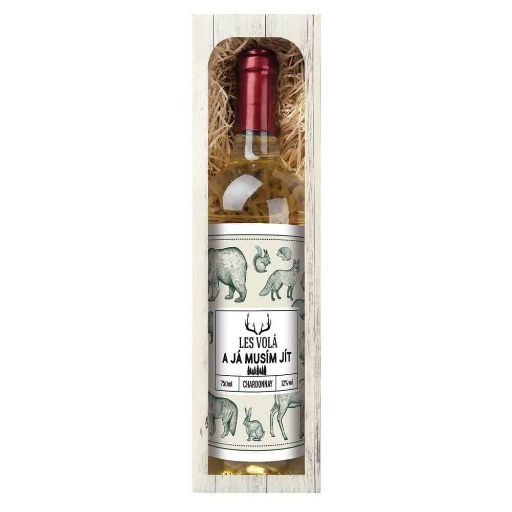 Dárkové bílé víno 0,75 l - Pro myslivce