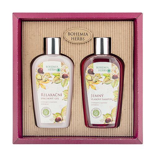 Kosmetická sada koňský kaštan - Sprchový gel a šampon