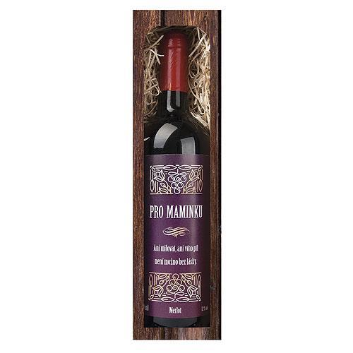 Dárkové červené víno 0,75 l mamince - Merlot