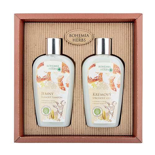Kosmetická sada kozí kosmetika - Sprchový gel a šampon
