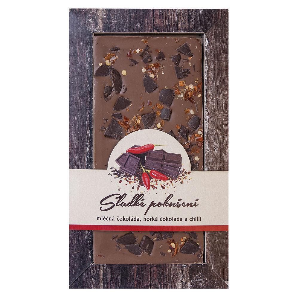 Ručně vyráběná sypaná čokoláda 80 g – Chilli