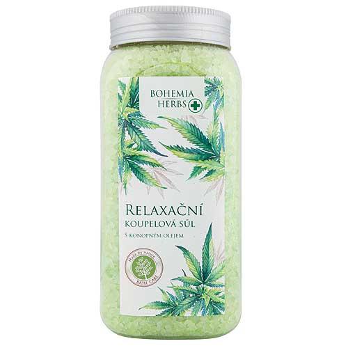 Konopná koupelová sůl 900 g - Cannabis
