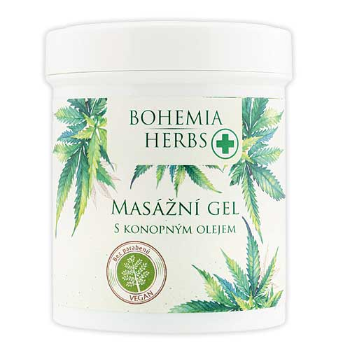Konopný masážní gel 125 ml - Cannabis