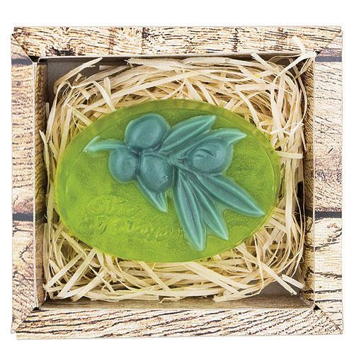 Ručně vyráběné tvarované mýdlo 90 g - Oliva