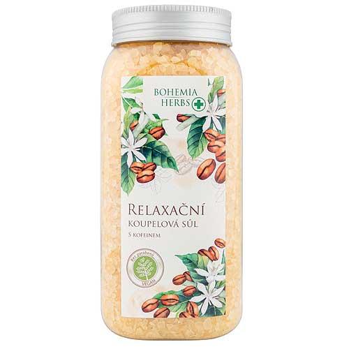 Relaxační sůl do koupele 900 g - S kofeinem