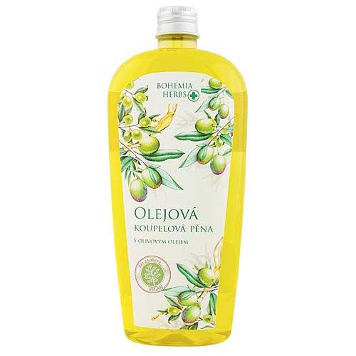 Olejová pěna do koupele 500 ml - oliva